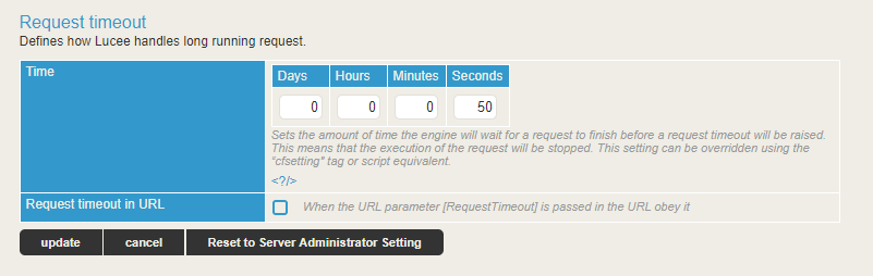Requesttimeout Doesn't Work - support - Lucee Dev